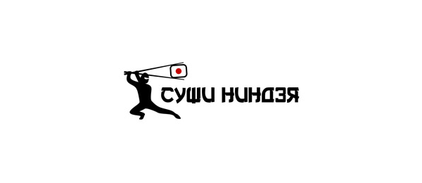 sushi ninja logo http://hative.com/cool-sushi-logos/