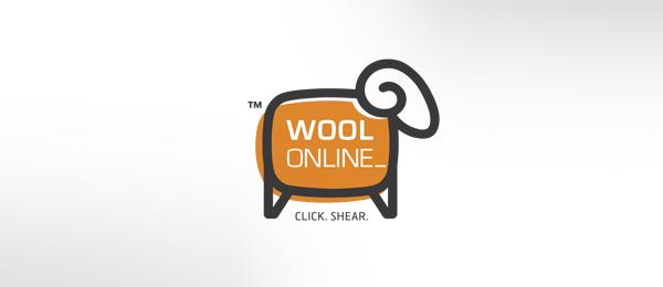 wool online computer logo 7