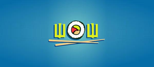 wow sushi logo http://hative.com/cool-sushi-logos/