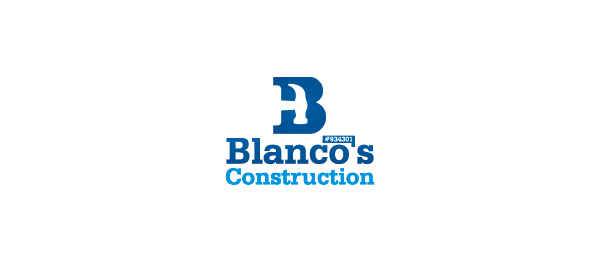 blue b hammer construction logo 1