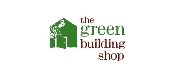 consturction logo green building 37