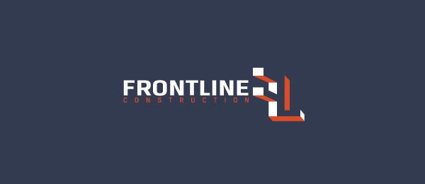 frontline construction logo 3d f 25