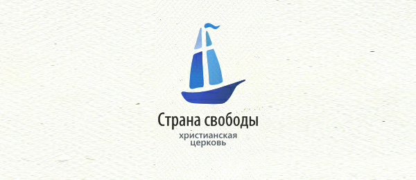 blue church logo with cross 9