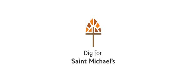 cross logo shovel dig 7