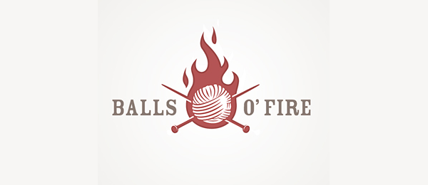 Knitting Logo Ideas : Cool fire logo designs for inspiration hative