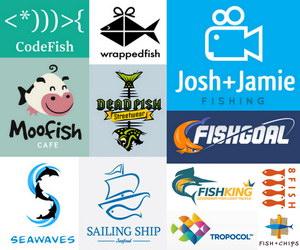 fish logo thumbnail data pin