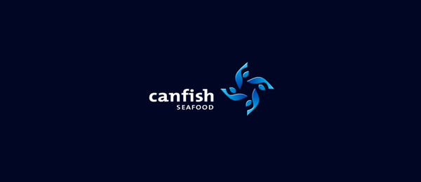 can fish logo flower 30