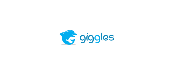 giggles blue fish logo 37