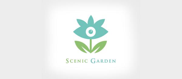 blue flower logo scenic garden 19