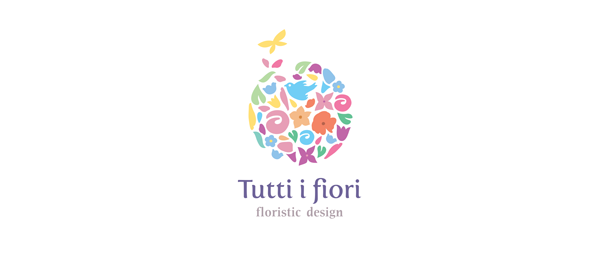 colorful floristic logo 4