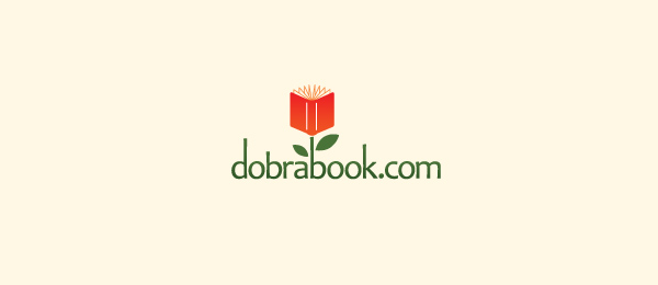 dobra book flower logo 23