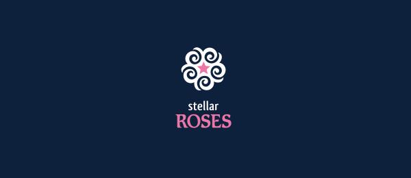flower logo stellar roses 29