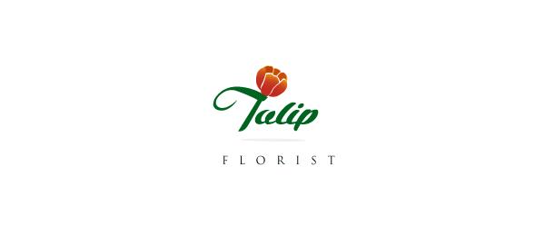 flower logo tulip 24
