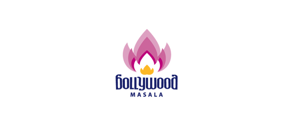 red flower logo bollywood masala 18