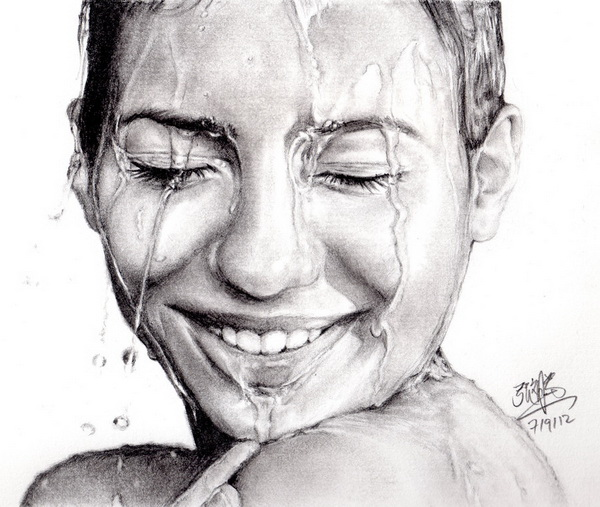 10 beautiful girl drawings for inspiration hative for Inspirational pencil sketches