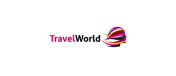 girl logo travel world 37