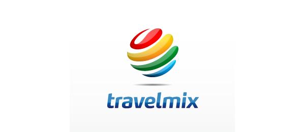 colorful globe logo travel mix 34