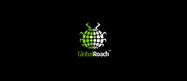global roach logo design 18