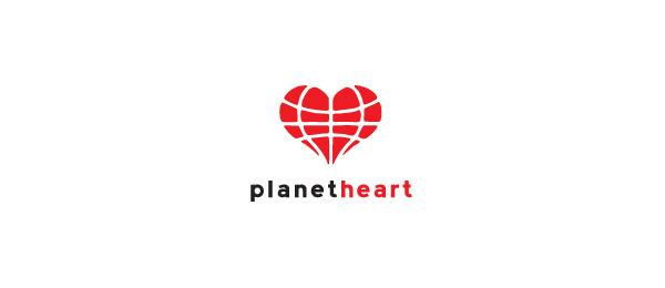 globe logo planet heart 26