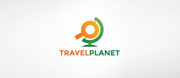 travel planet globe logo 23