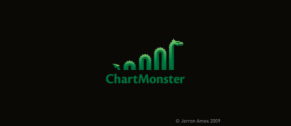 green logo chart monster 26