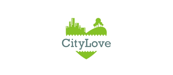 green logo city love 12
