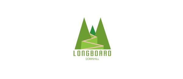green logo downhill longboard 44