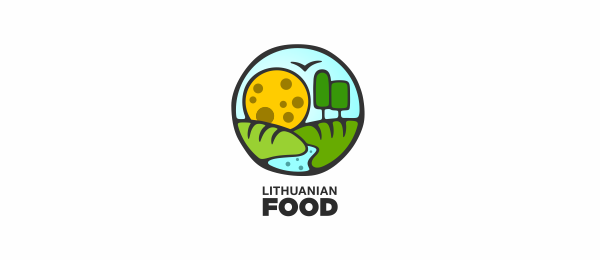 green logo lithuanian food 22