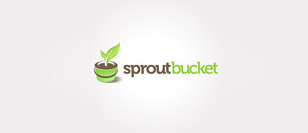 green logo sprout bucket 30
