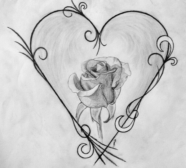 Heart Drawing 10+ cool heart drawings for inspiration - hative