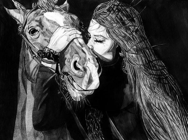 horse drawing 5