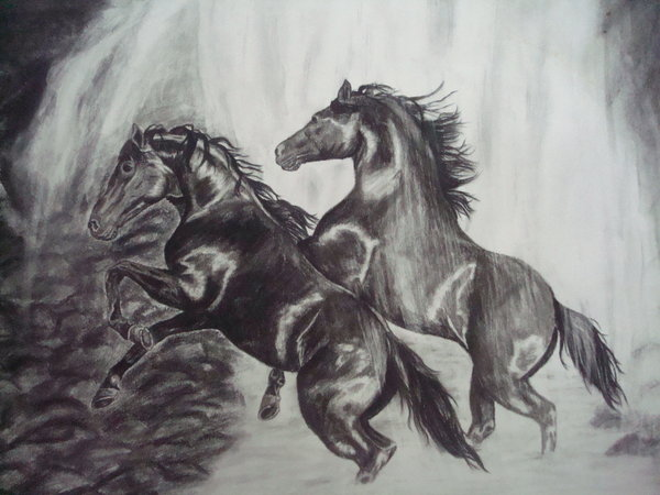 10 Cool Horse Drawings For Inspiration Hative