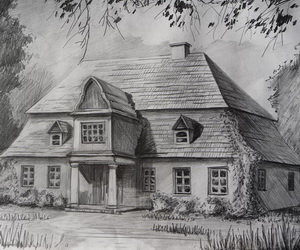 10+ Beautiful House Pencil Drawings for Inspiration - Hative