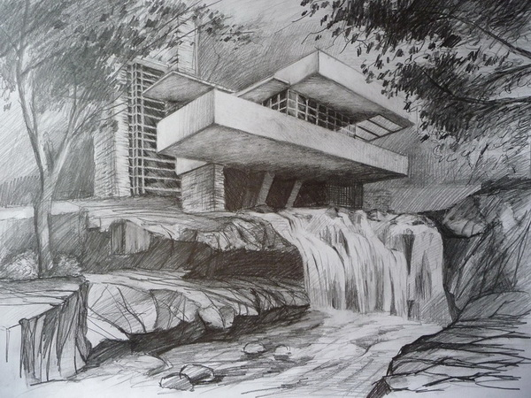 10 Beautiful House Pencil Drawings For Inspiration Hative