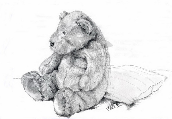 how to draw a realistic teddy bear