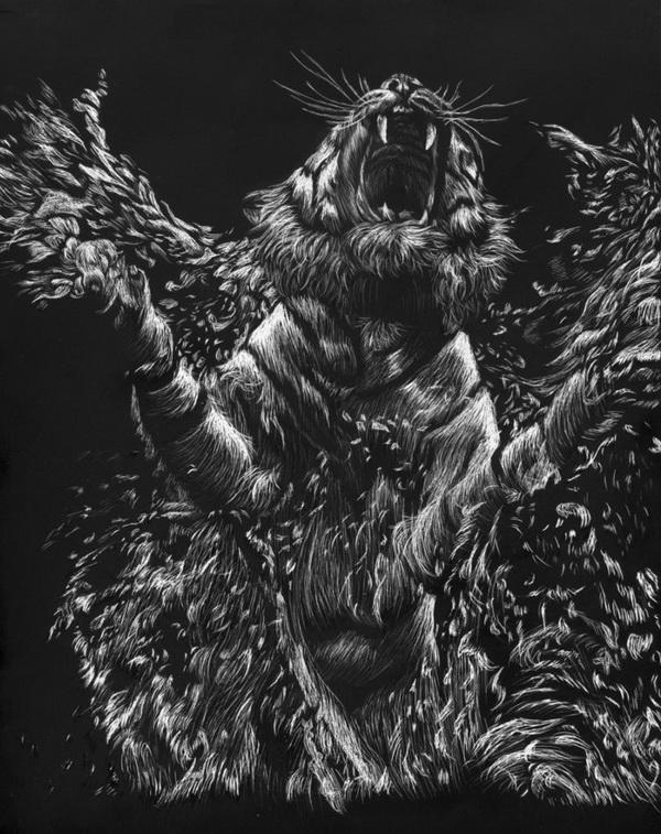 Tiger family drawing - photo#27