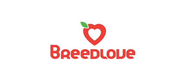 breed love heart logo 36