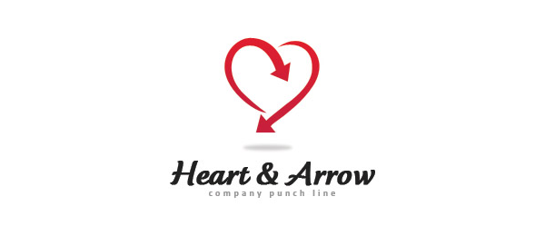 heart and arrow logo 6