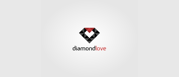 heart logo diamond love 24