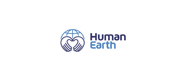 heart logo human earth 44