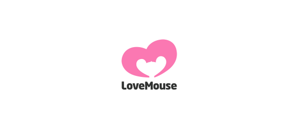heart logo love mouse 55