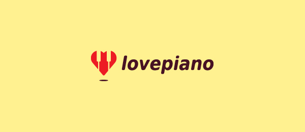 heart logo love piano 31