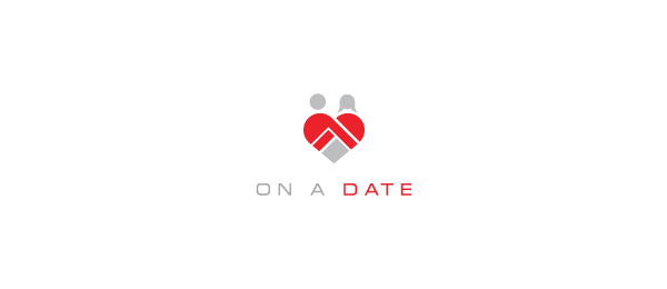 heart logo on a date 48