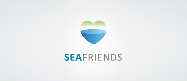 heart logo sea friends 45