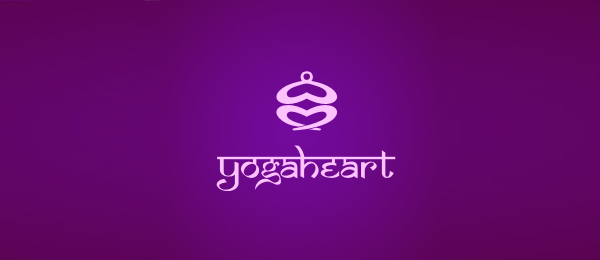 heart logo yoga heart 46