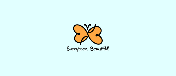 yellow butterfly heart logo 38