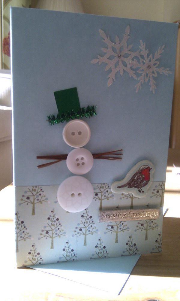 button christmas card 51