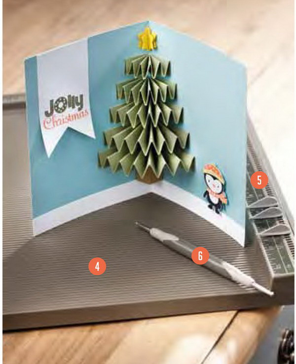 50 creative homemade christmas cards showcase hative for Christmas tree cards to make