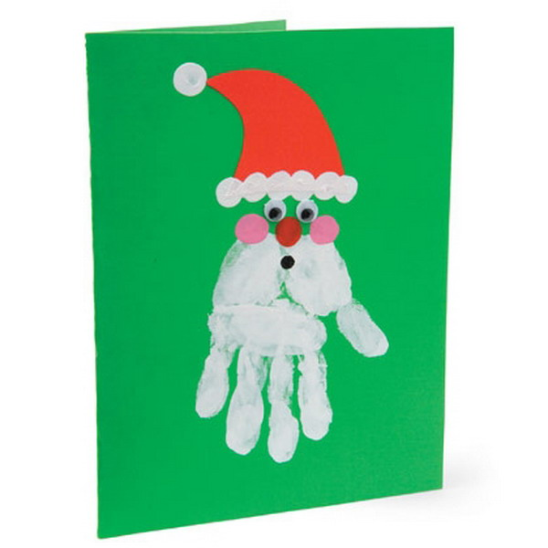 handprint santa claus card 37