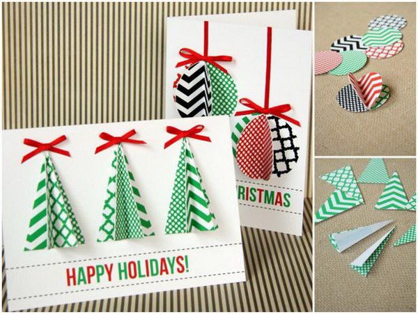 50 creative homemade christmas cards showcase hative for Easy xmas cards